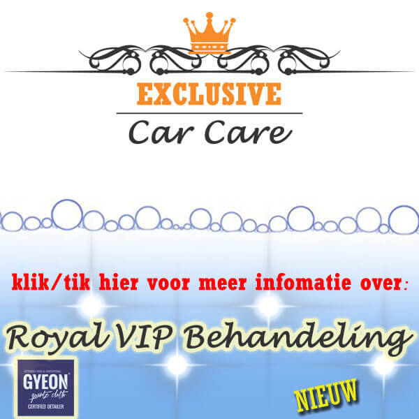 Royal VIP behandeling met gyeon logo