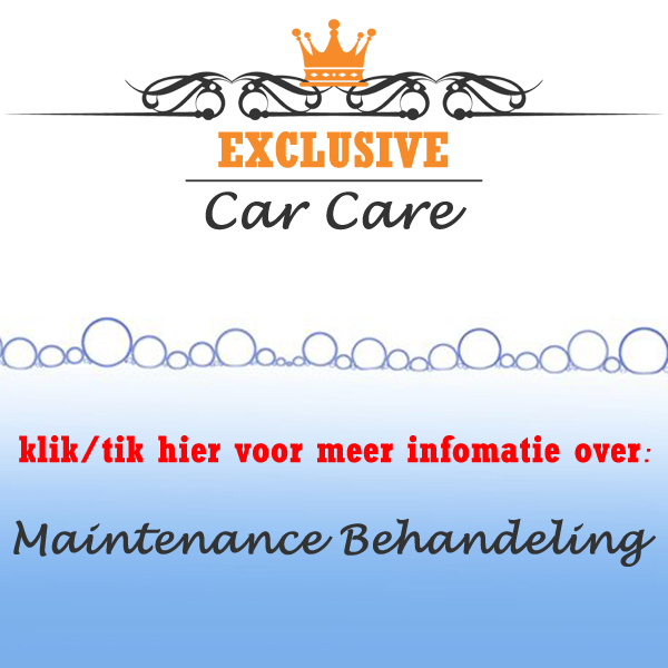 maintenance detailing behandeling