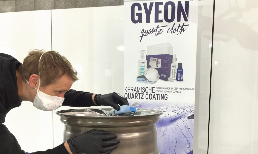 lakverzegeling gyeon car detailing glascoating