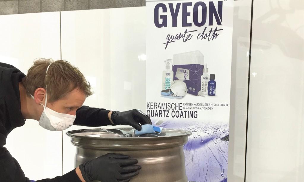 lakverzegeling gyeon car detailing glascoating